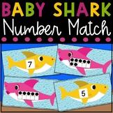 Baby Shark Tens Frame Number Match Game