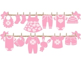 BABY SHOWER - BABY SHOWER FOR TEACHER - DECORATION - GIRL- PINK - CLOTHING LINE