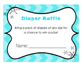 Baby Shower Books for Baby and Diaper Raffle Cards