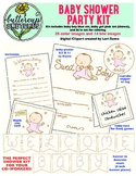 Baby Shower Clip Art Collection for Teachers: 28 color and