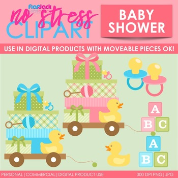 Baby Shower Clip Art (Digital Use Ok!)