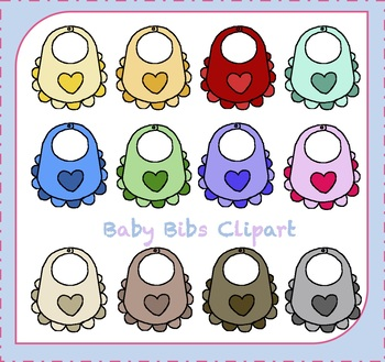 Baby Shower Clipart / Baby Bib Clipart / Baby Clothes