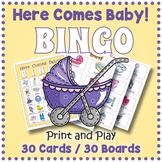 Baby Shower Game - Here Comes Baby BINGO