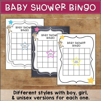 Baby Shower Games for Teachers or Coworkers! Bingo, What's in My Purse, & More!