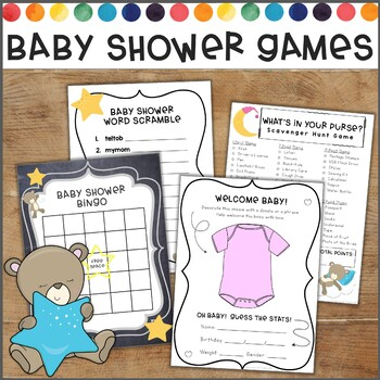 Baby Shower Games for Teachers or Coworkers! Bingo, What's