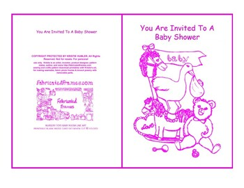 Baby Shower Invite Nursery Toys Baby Room Pink Line Art Card Printable