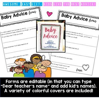 Baby Shower Planning Kit w/ Advice Papers, Editable Sign-Up, Ideas, Instructions