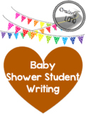 Baby Shower- bear themed student writing page PDF