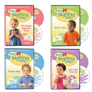 Baby Signing Time DVD/CDs Set 1-4