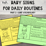 Baby Signs for Daily Routines Part 2: Core Vocabulary