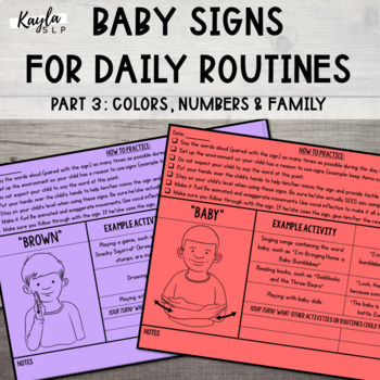 Baby Signs for Daily Routines Part 3: Colors, Numbers, Family