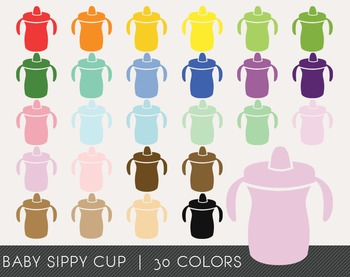 Baby Sippy Cup Digital Clipart, Baby Sippy Cup Graphics, B