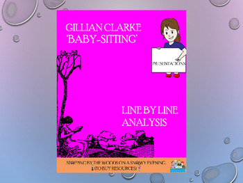 Baby-Sitting by Gillian Clarke: an analysis