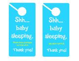Baby Sleeping- 2 door signs