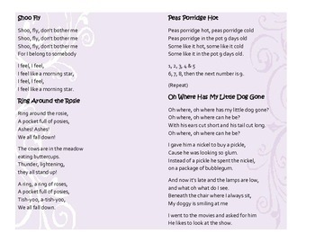 Baby Songs Cheat Sheet Printables – Lyrics for Play Songs