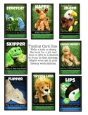 Baby Stuffed Animals Reading Trading Cards Only