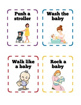 Baby Theme Movement Cards