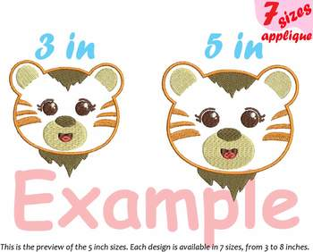 Baby Tiger Applique Designs for Embroidery Japan cartoon cute Emoji kawaii 12a