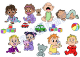 Baby/ Toddler/ Toy- Clipart- For Personal and Commercial use