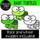Baby Turtles Clipart {Creative Clips Clipart}