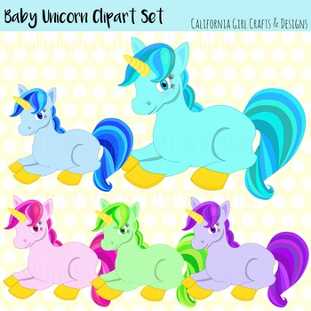 Baby Unicorn Clipart Set - Perfect For Classroom Crafts!