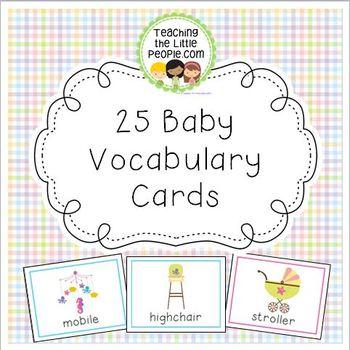 Baby Vocabulary Cards for Preschool and Kindergarten