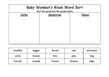 Baby Wombat's Week Activities