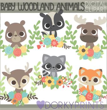 Baby Woodland Animals Clipart