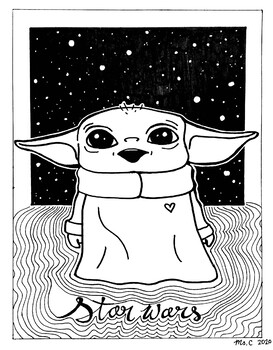 Baby Yoda Coloring Sheet By Art With Ms C Teachers Pay Teachers