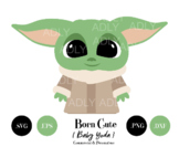 Baby Yoda SVG file from Star Wars Clipart PNG EPS, Star wa