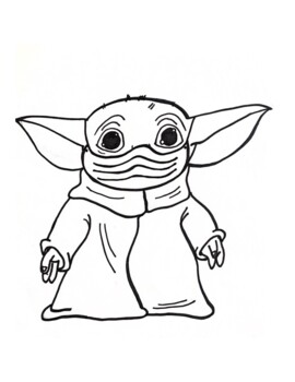 Baby Yoda Wears A Mask By Empoweringinclusion Teachers Pay Teachers