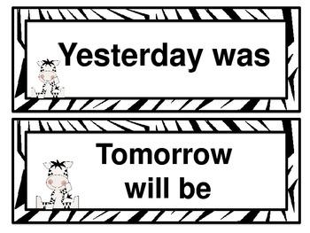Baby Zebra Calendar Kit