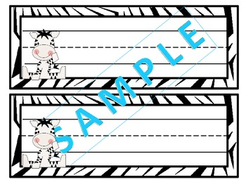 Baby Zebra Multicolored Nameplates.