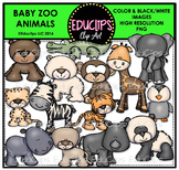 Baby Zoo Animals Clip Art Bundle {Educlips Clipart}