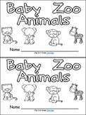 Baby Zoo Animals- Nonfiction Leveled Reader- Level B Kindergarten