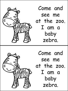 Baby Zoo Animals- Nonfiction Leveled Reader- Level B Kindergarten