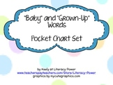"""""""Baby"""" and """"Grown-Up"""" Words: Word Choice Pocket Chart Set"""
