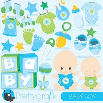 Baby boy clipart commercial use, vector graphics, digital - CL829