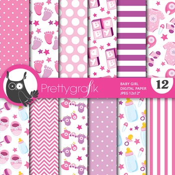 Baby boy digital paper, commercial use, scrapbook papers,