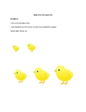 Baby chick size sequence