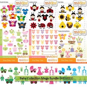 Baby Clip Art Baby Collection Clipart Mega Bundle 9 Packs