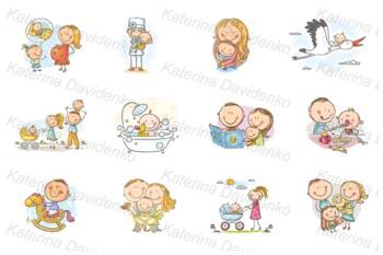 Baby clipart bundle