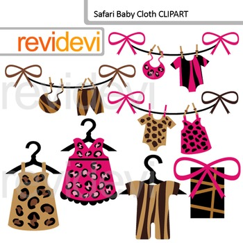 Baby clothing clip art - Safari Baby cloth