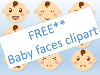 Baby faces - clipart