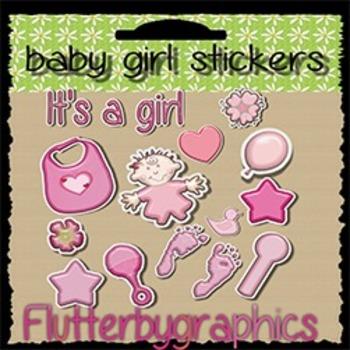 Baby girl sticker set