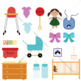 Baby nursery clip art (rooms clip art)