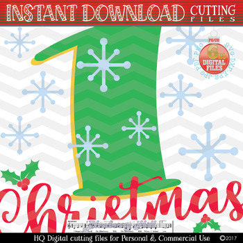 Baby's First Christmas SVG - Christmas svg - Baby's First Christmas Cut Files