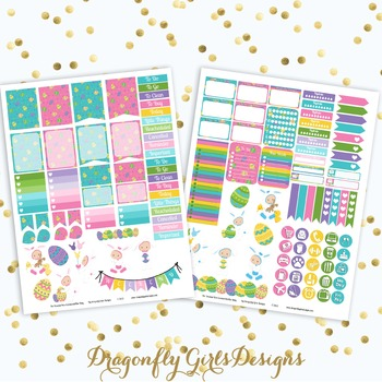 Baby's First Easter Printable Planner Stickers Mini Kit