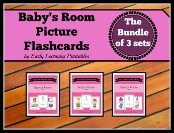 Baby's Room BUNDLE (Set I, II, III) Picture Flashcards