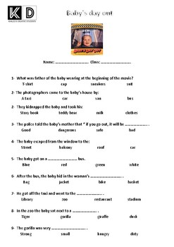 Baby's day out movie - multiple choice questions